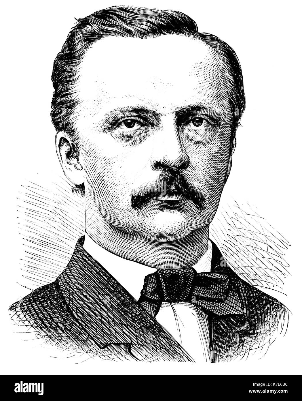 HERMANN von HELMHOLTZ (1821-1894) German physician and physicist - Stock Image