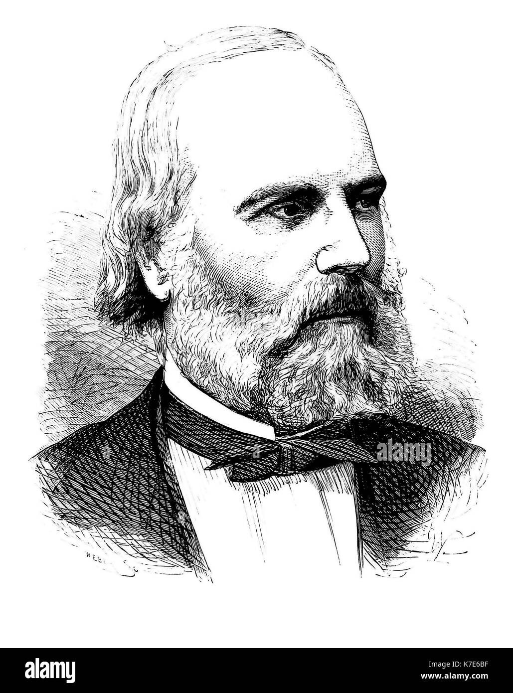 J. LAWRENCE SMITH (1818-1883) American chemist - Stock Image