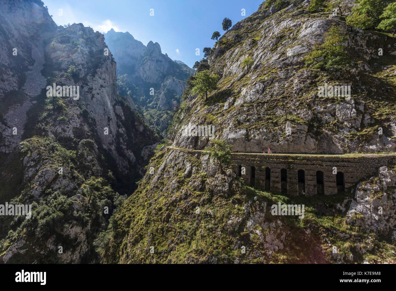 Ruta del Cares view. Picos de Europa, Spain - Stock Image