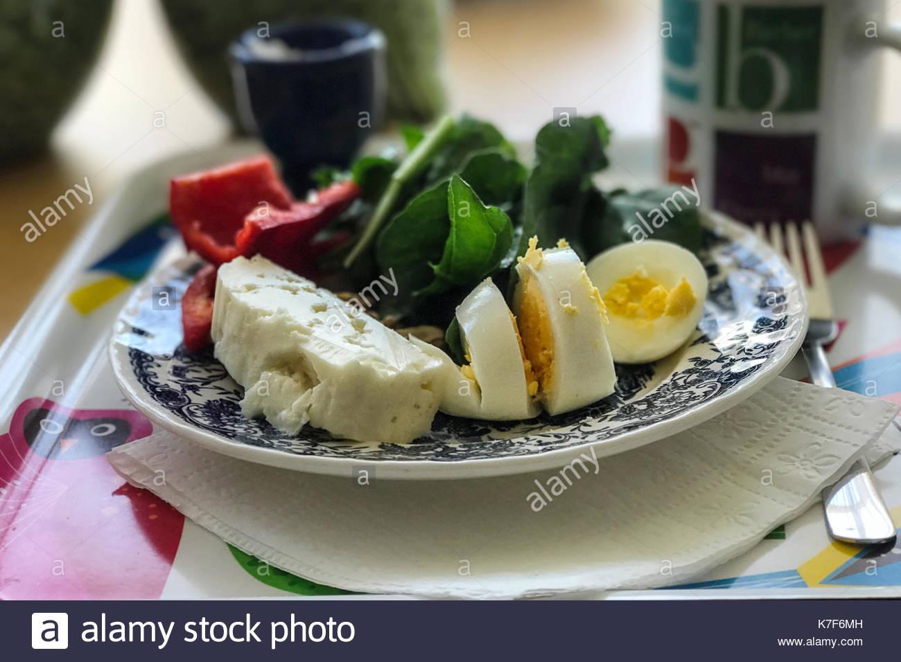 Healhty breakfast with coffee - Stock Image