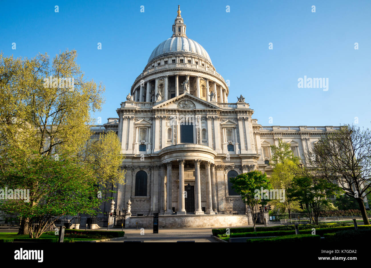 A view of southern entrance to St Paul's Cathedral in London, Great Britain - Stock Image