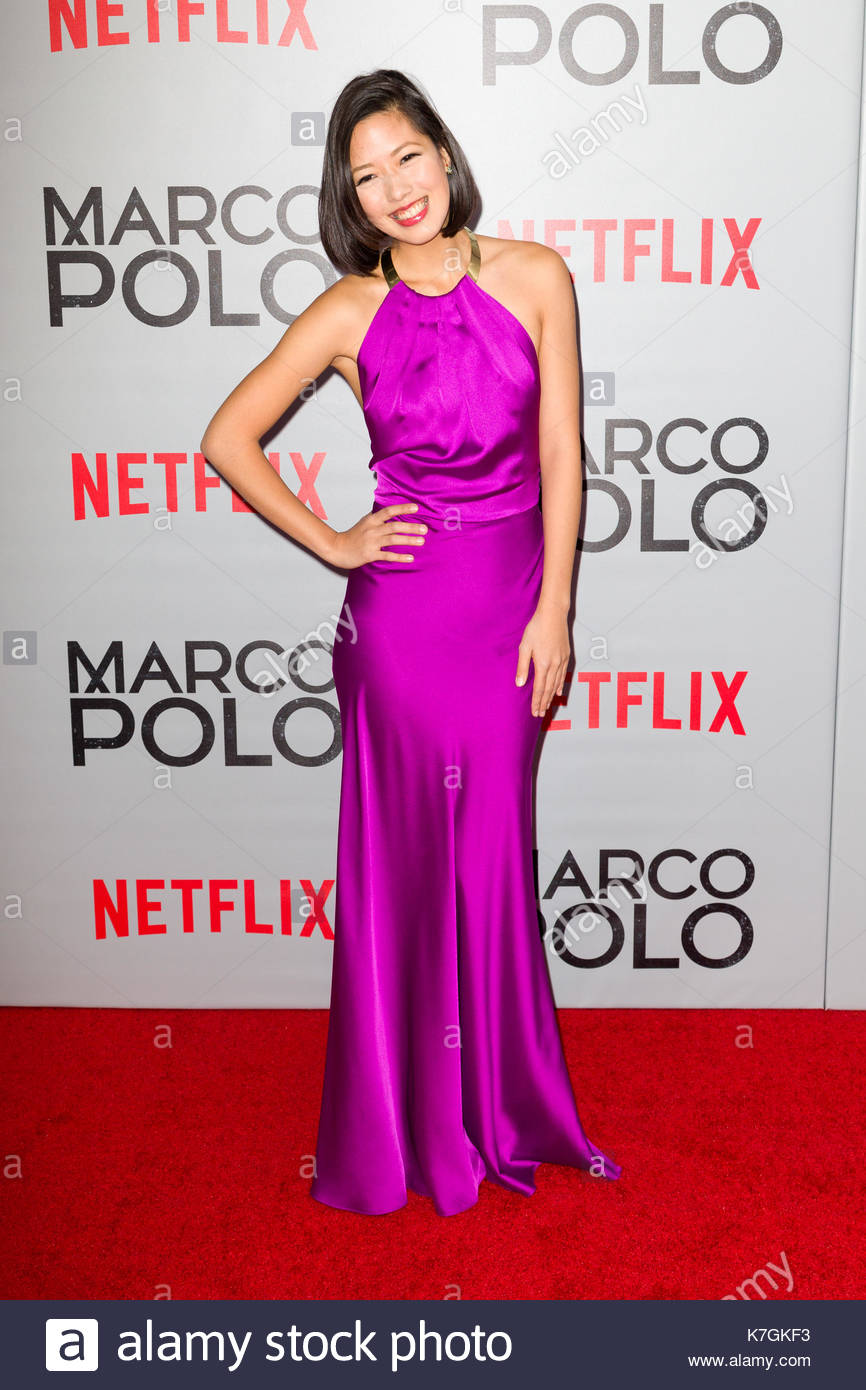 Vanessa Vanderstraaten. Arrivals at the premiere of \'Marco Polo\' at ...