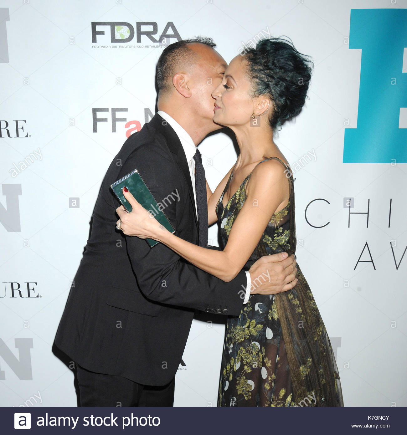 Joe zee and nicole richie celebrity meet and greet at the 28th celebrity meet and greet at the 28th annual footwear news achievement awards and hall of fame gala held at the iac headquarters building in nyc m4hsunfo