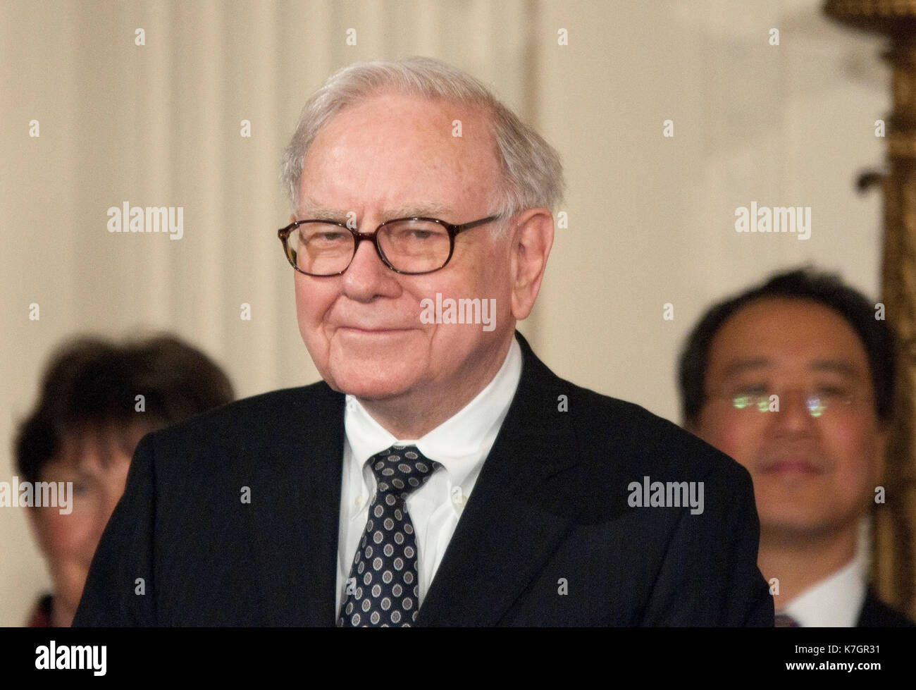 Warren Buffett at the Medal of Freedom ceremony where he was awarded the Medal of Freedom,  Credit: Patsy Lynch/MediaPunch - Stock Image
