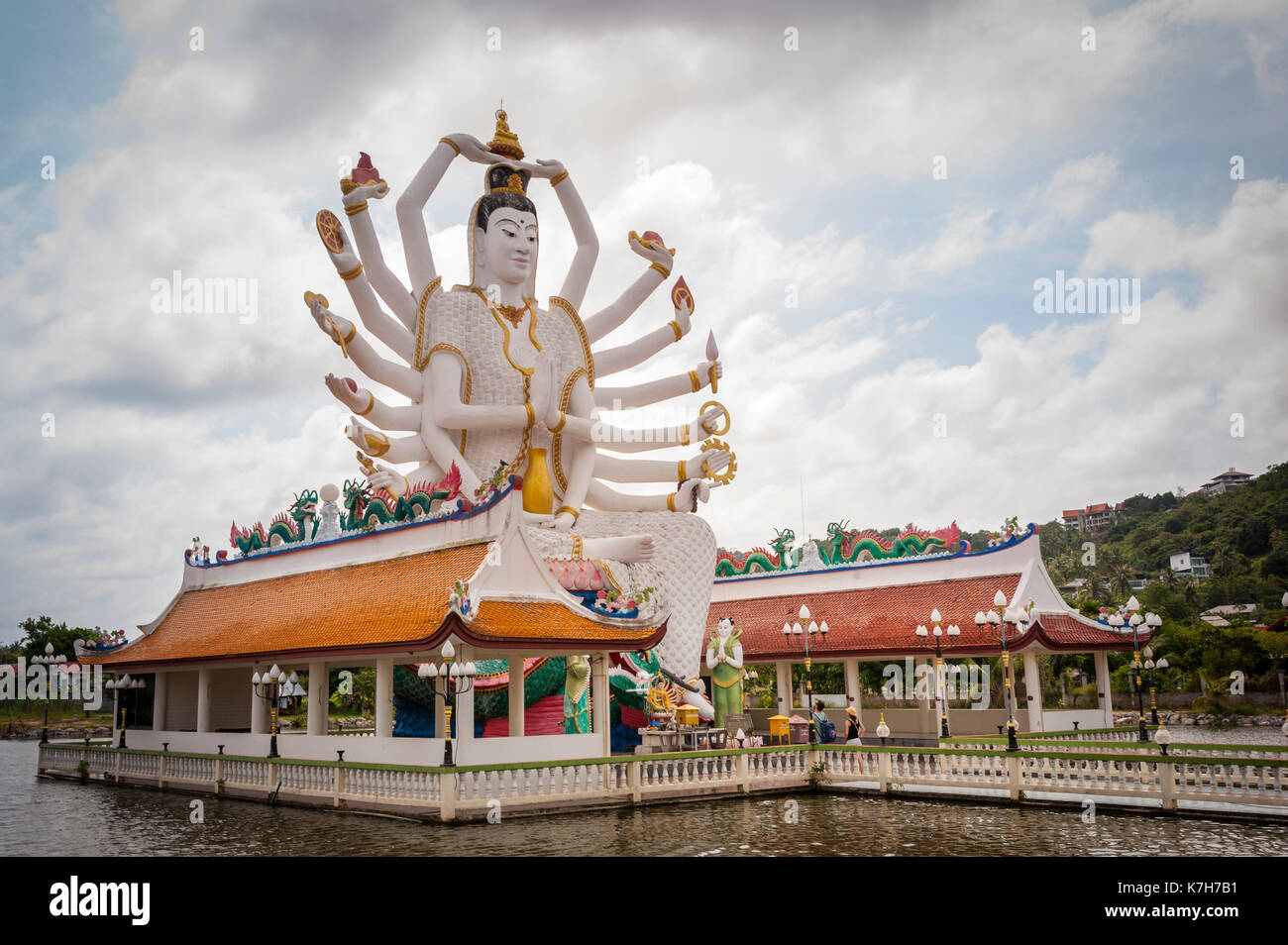 Guanyin, a the goddess of mercy and compassion at Wat Plai Leam, a Buddhist temple on the island of Ko Samui, Thailand. - Stock Image