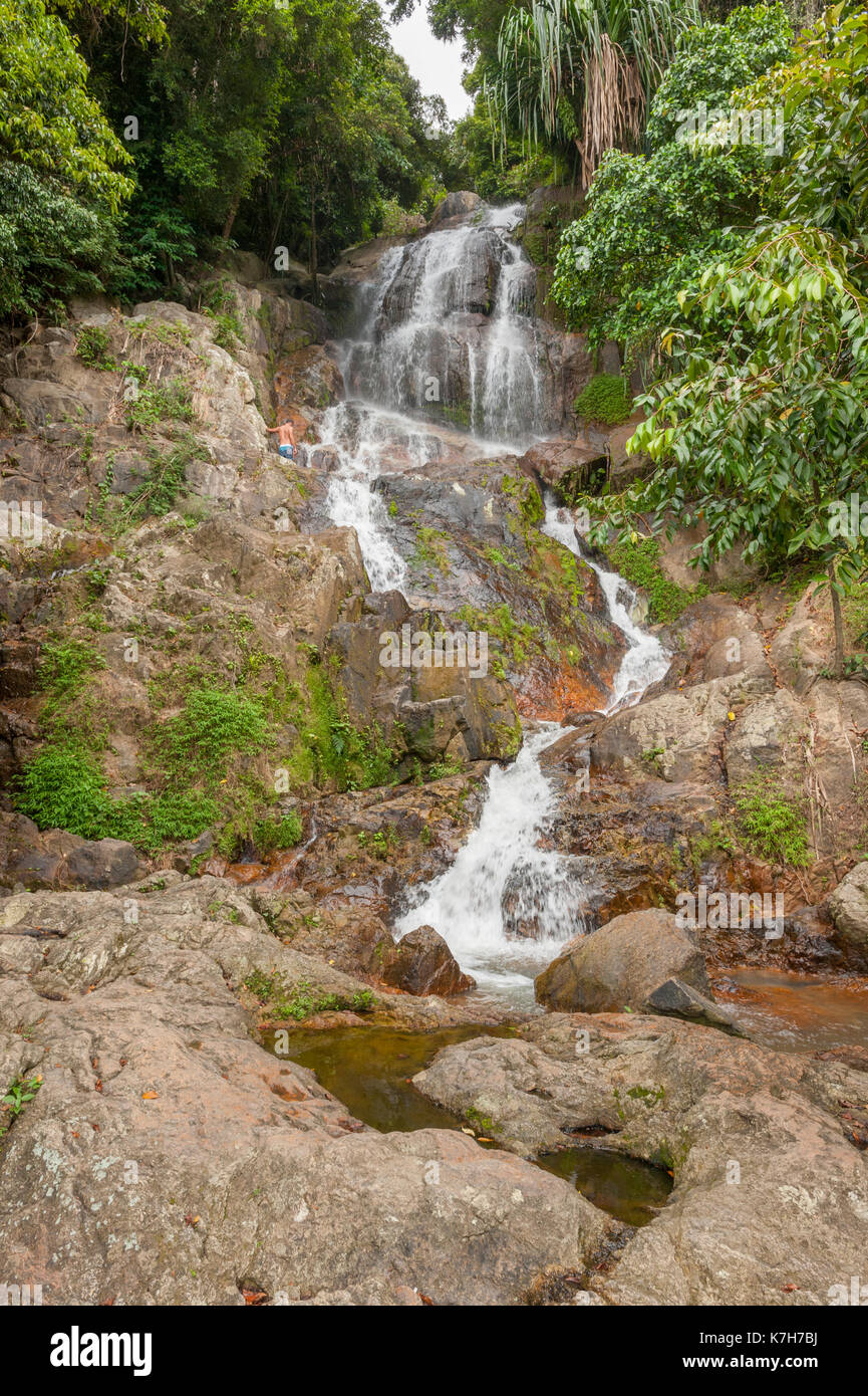 Waterfall on Koh Samui Island, Thailand - Stock Image