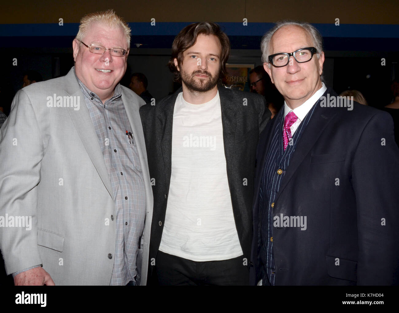 Daniel Petrie Jr.,Ross Duffer Howard Rodman attends WGAW's Sublime Primetime 2017 Panel Discussion Emmy-nominated writers Writers Guild Theater September 15,2016 Beverly Hills,California. - Stock Image