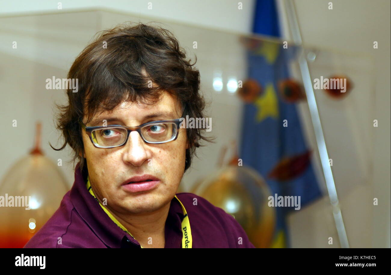 ITALY, Pordenone: Russian author Andrej Astvacaturov attend at the press conference during a literary event Pordenonelegge.it XVII BookFest with authors from 13 to 17 September at Pordenone on 16th September, 2017. - Stock Image