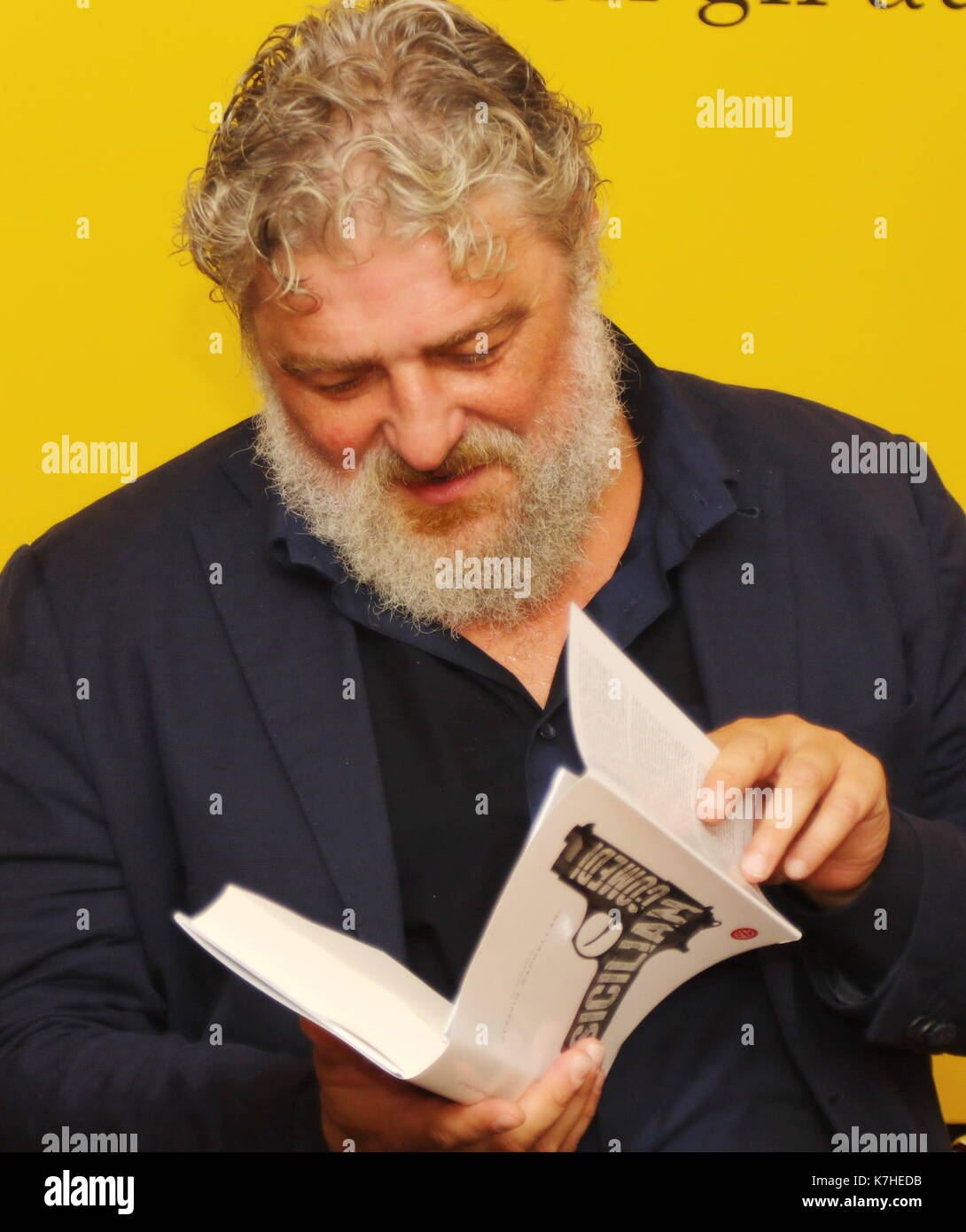 ITALY, Pordenone: Italian author Ottavio Cappellani attend at the press conference during a literary event Pordenonelegge.it XVII BookFest with authors from 13 to 17 September at Pordenone on 16th September, 2017. - Stock Image