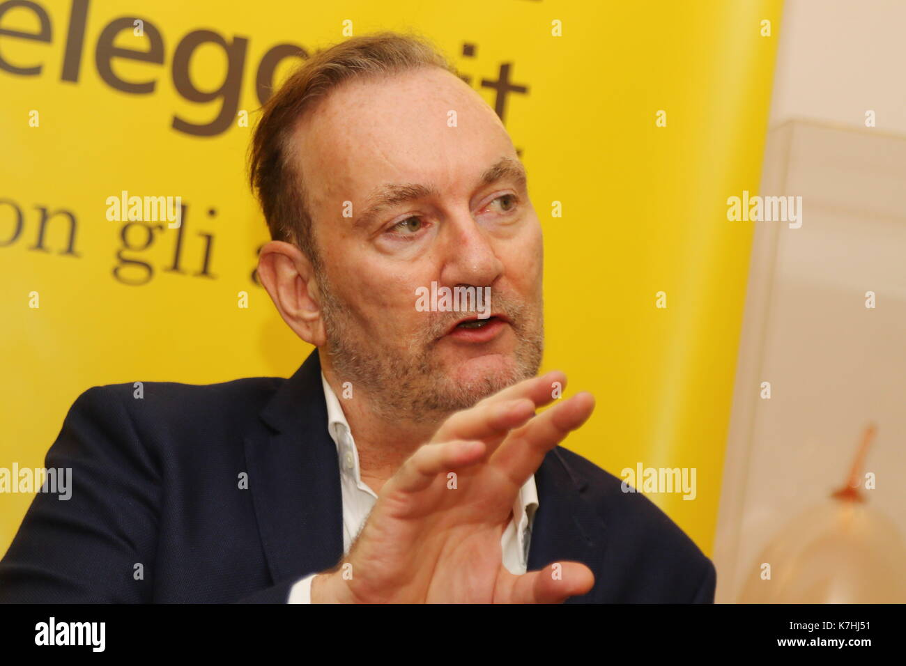 ITALY, Pordenone: British novelist Lawrence Osborne attend at the press conference during a literary event Pordenonelegge.it XVII BookFest with authors from 13 to 17 September at Pordenone on 16th September, 2017. - Stock Image