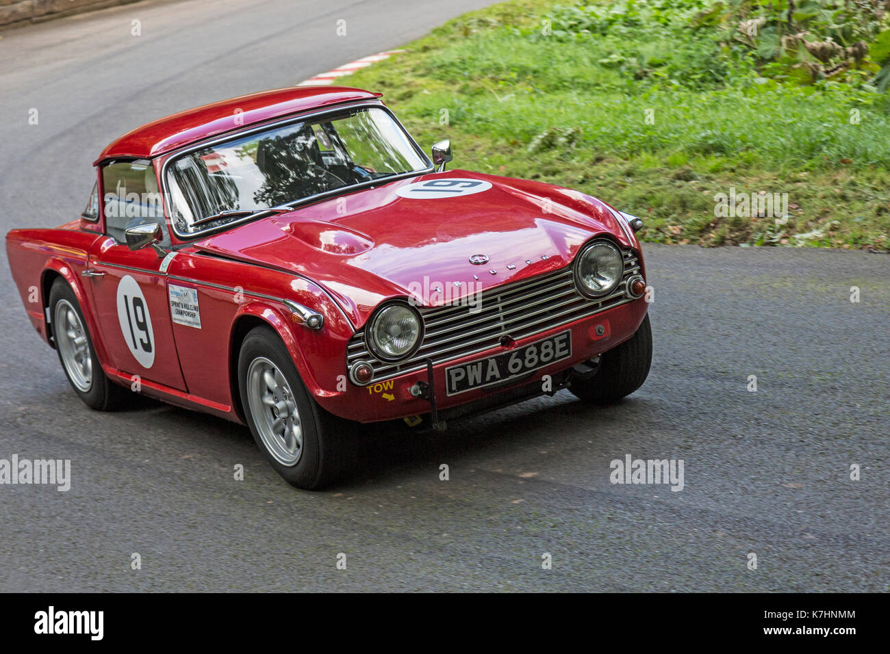 Worcestershire, UK  16th September, 2017  A Triumph TR4A