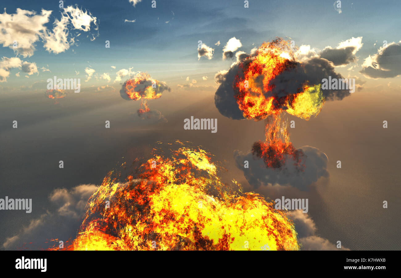Nuclear War. - Stock Image
