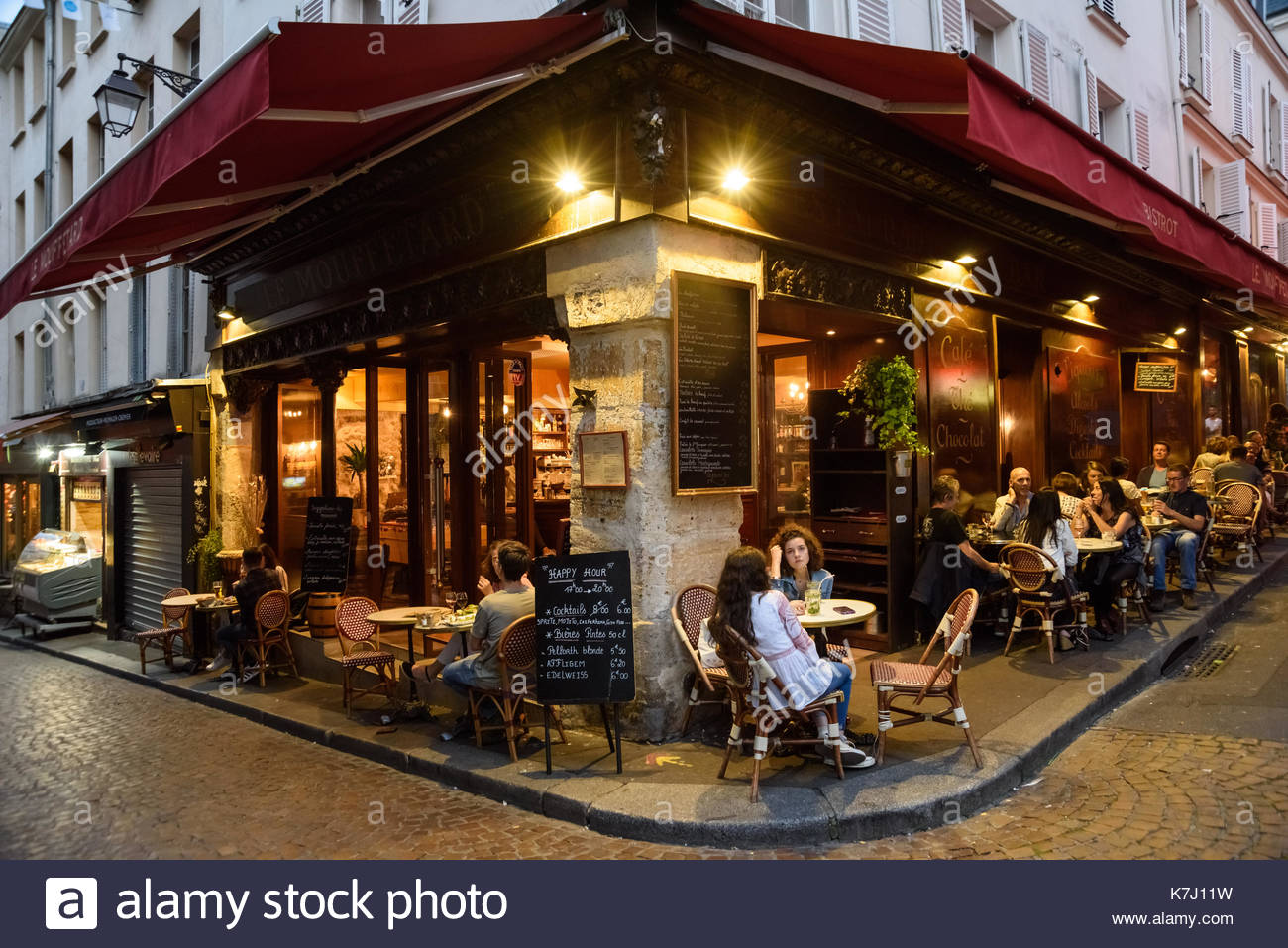 Paris, Strassencafe Le Mouffetard, Cafe Terrace Le Mouffetard (116 ...