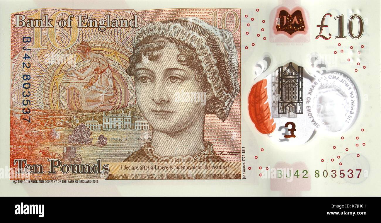 New polymer ten pound note - Stock Image