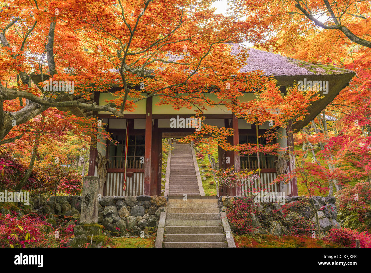 Kyoto, Japan at Jojakko Temple. - Stock Image