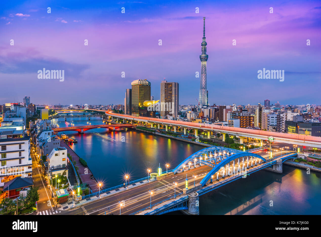 Tokyo, Japan skyline in the Sumida district. - Stock Image