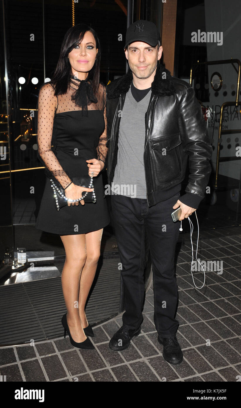 Photo Must Be Credited ©Kate Green/Alpha Press 079965 25/01/2016 Linzi and Will Stoppard Eating Happiness VIP film screening Mondrian Hotel London - Stock Image