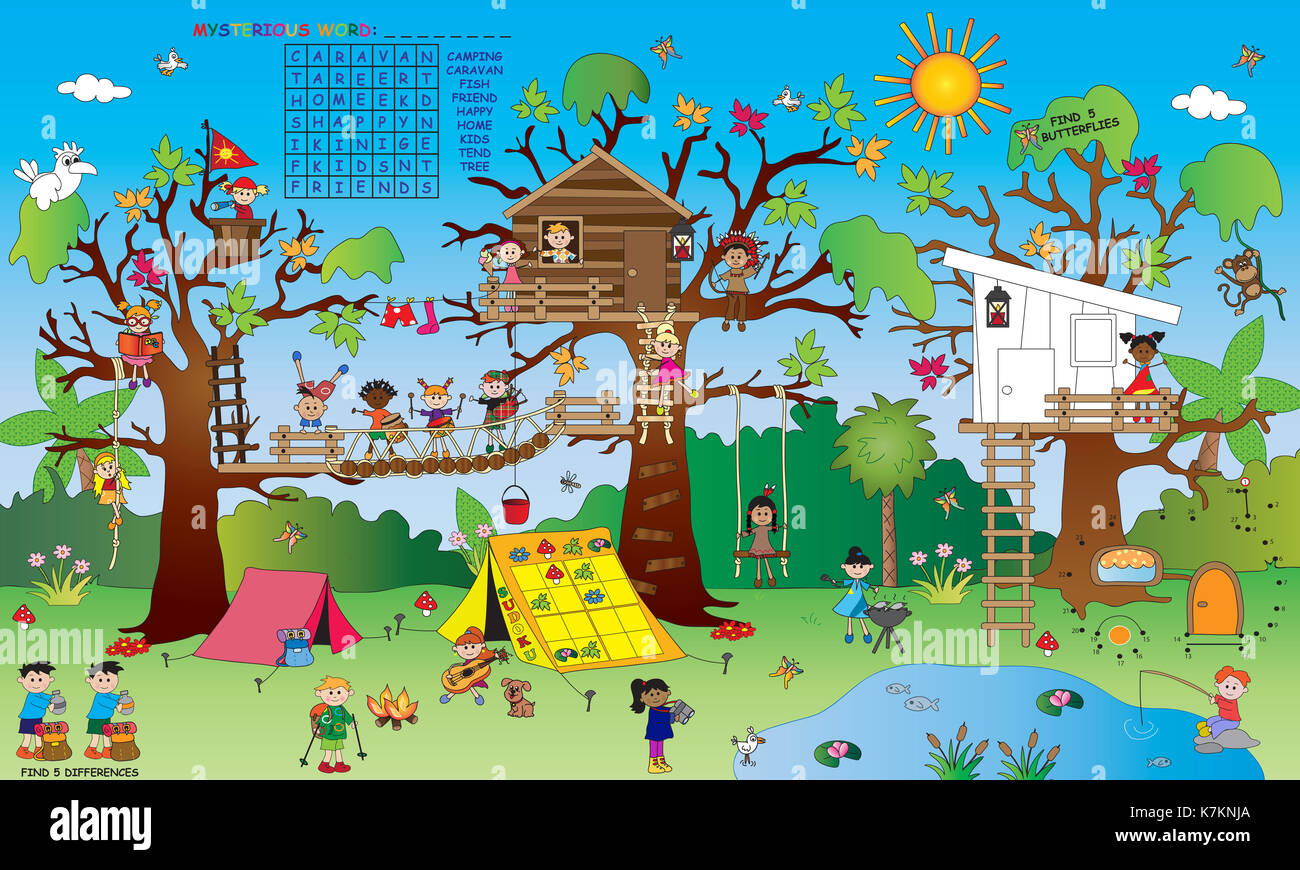 Landscape With Some Small Children S Games Crossword Find The