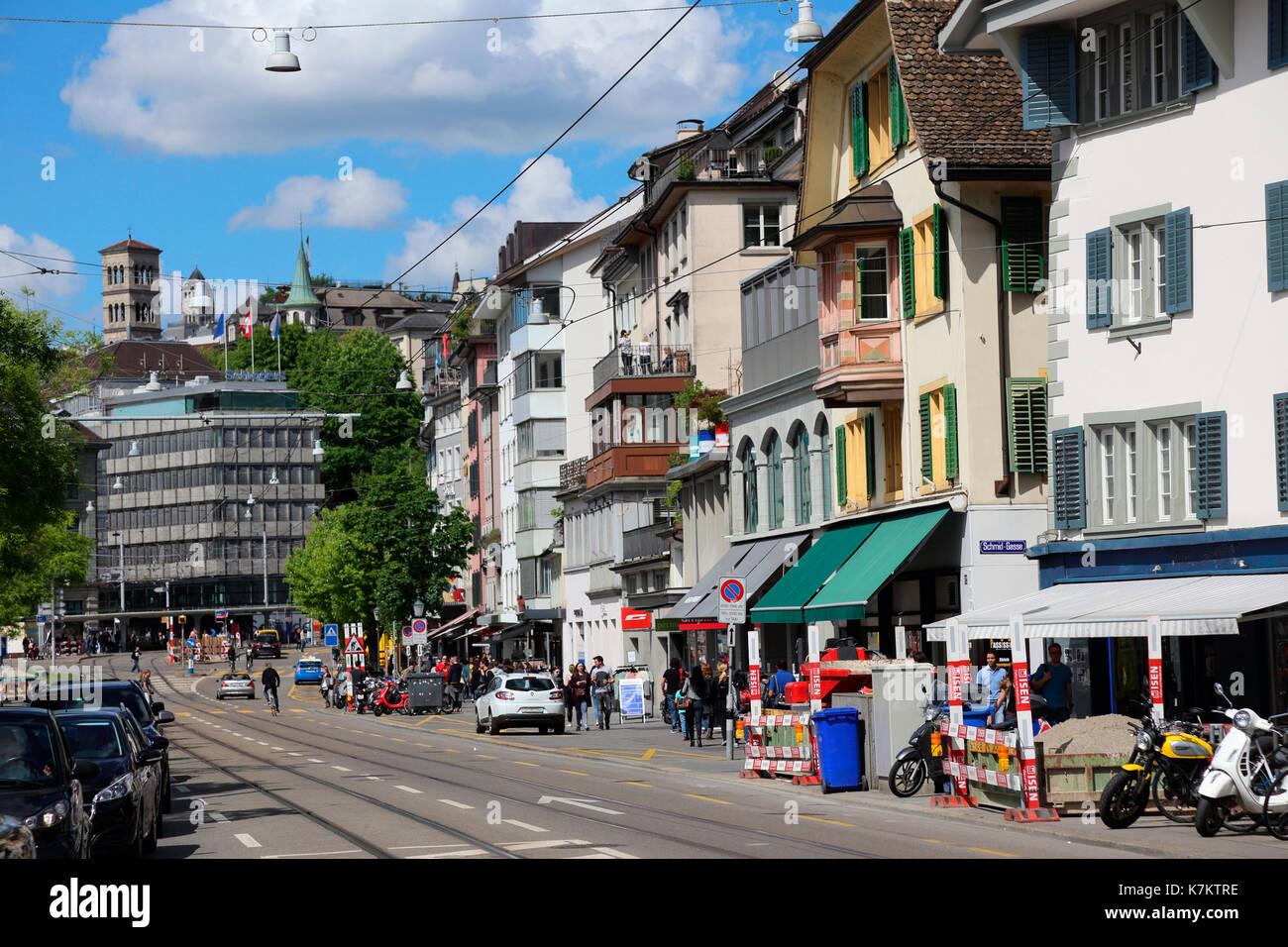 Switzerland Zurich Limmatquai - Stock Image