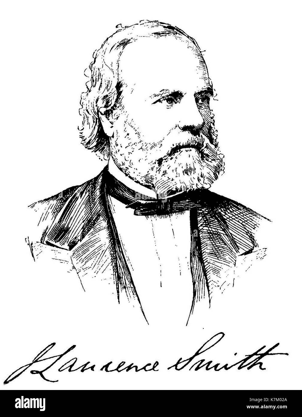 JOHN LAWRENCE SMITH (1818-1883) American chemist who invented the inverted microscope - Stock Image