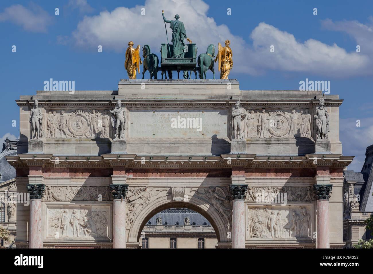 Arc de Triomphe du Carrousel Paris France Stock Photo