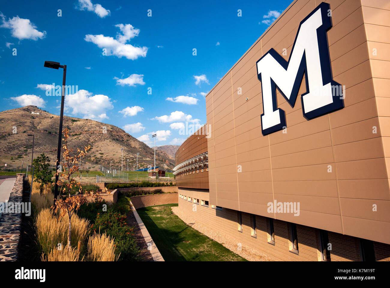 Marv Kay Stadium at Harry D. Campbell Field - Coloardo School of Mines - Golden, Colorado, USA - Stock Image