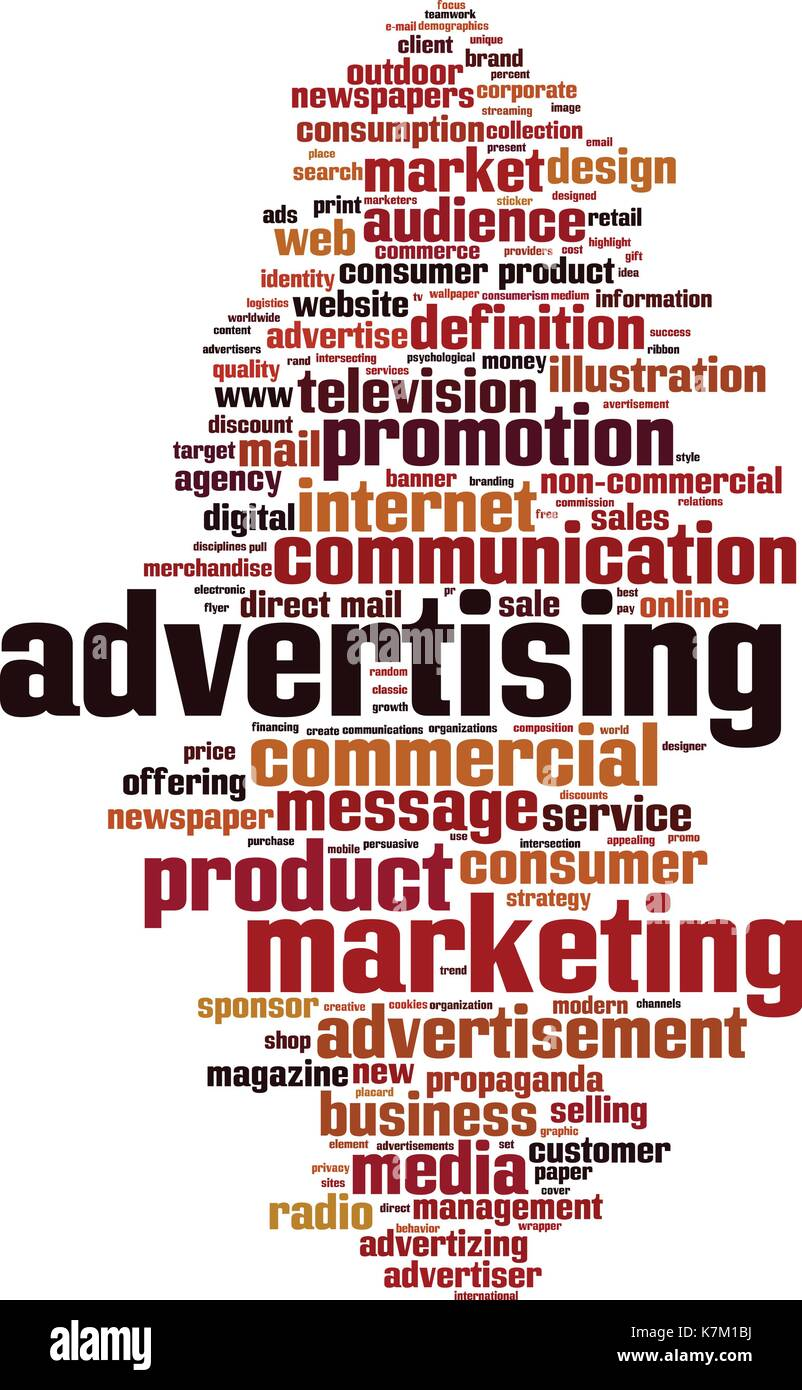 Advertising word cloud concept. Vector illustration Stock Vector