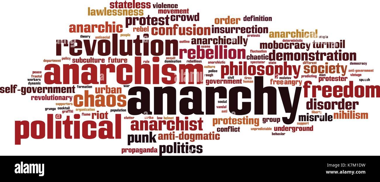 Anarchy word cloud concept. Vector illustration Stock Vector
