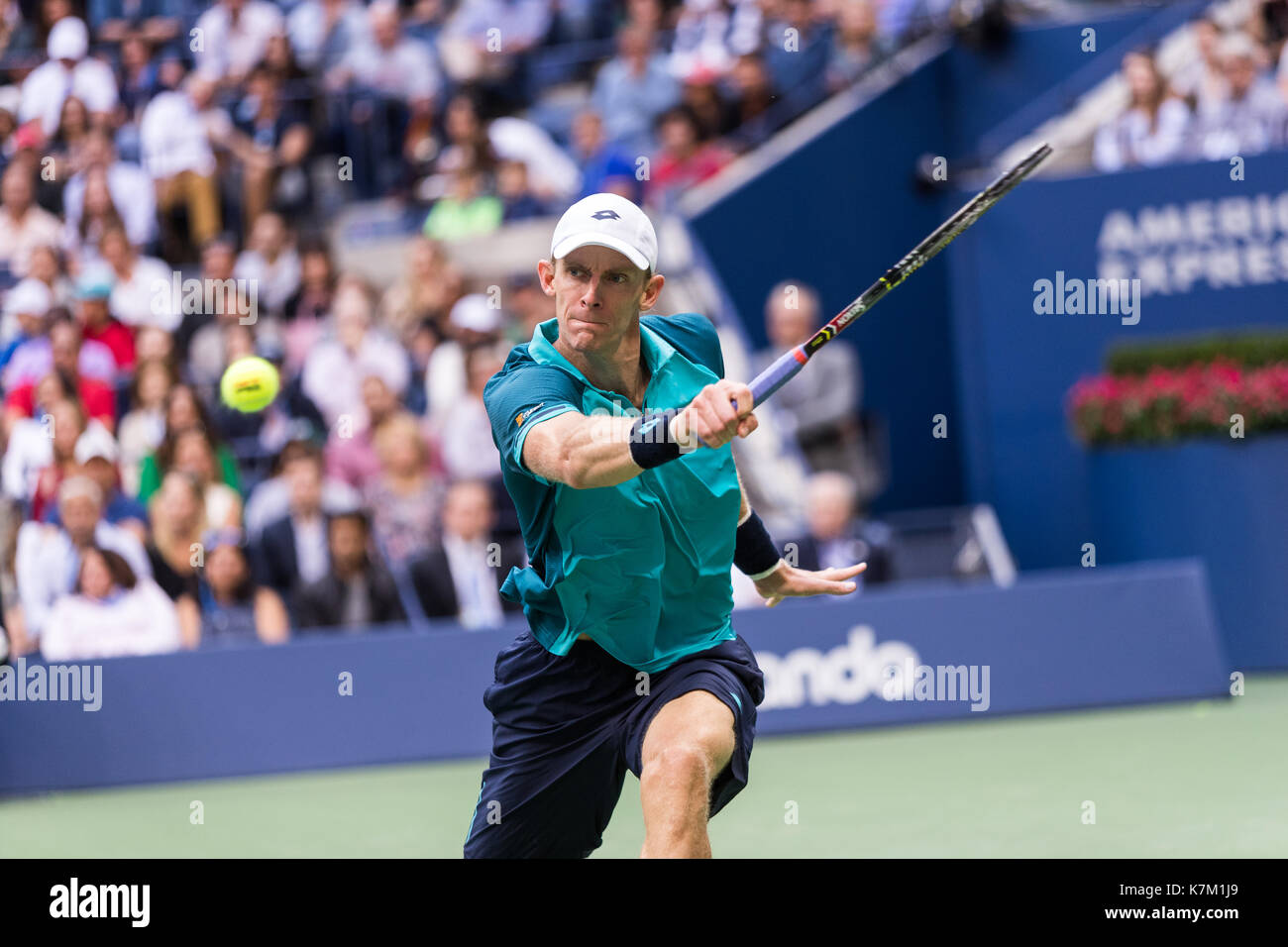 Kevin Anderson (RSA) runner up in the Men's Singles Final  at the 2017 US Open Tennis Championships - Stock Image