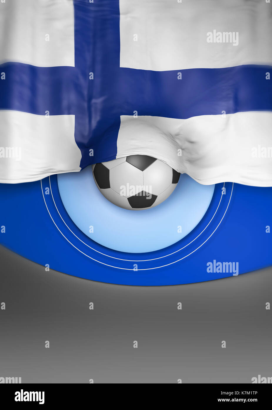 Flag Finland render, Finnish Flag (3D Render) Stock Photo