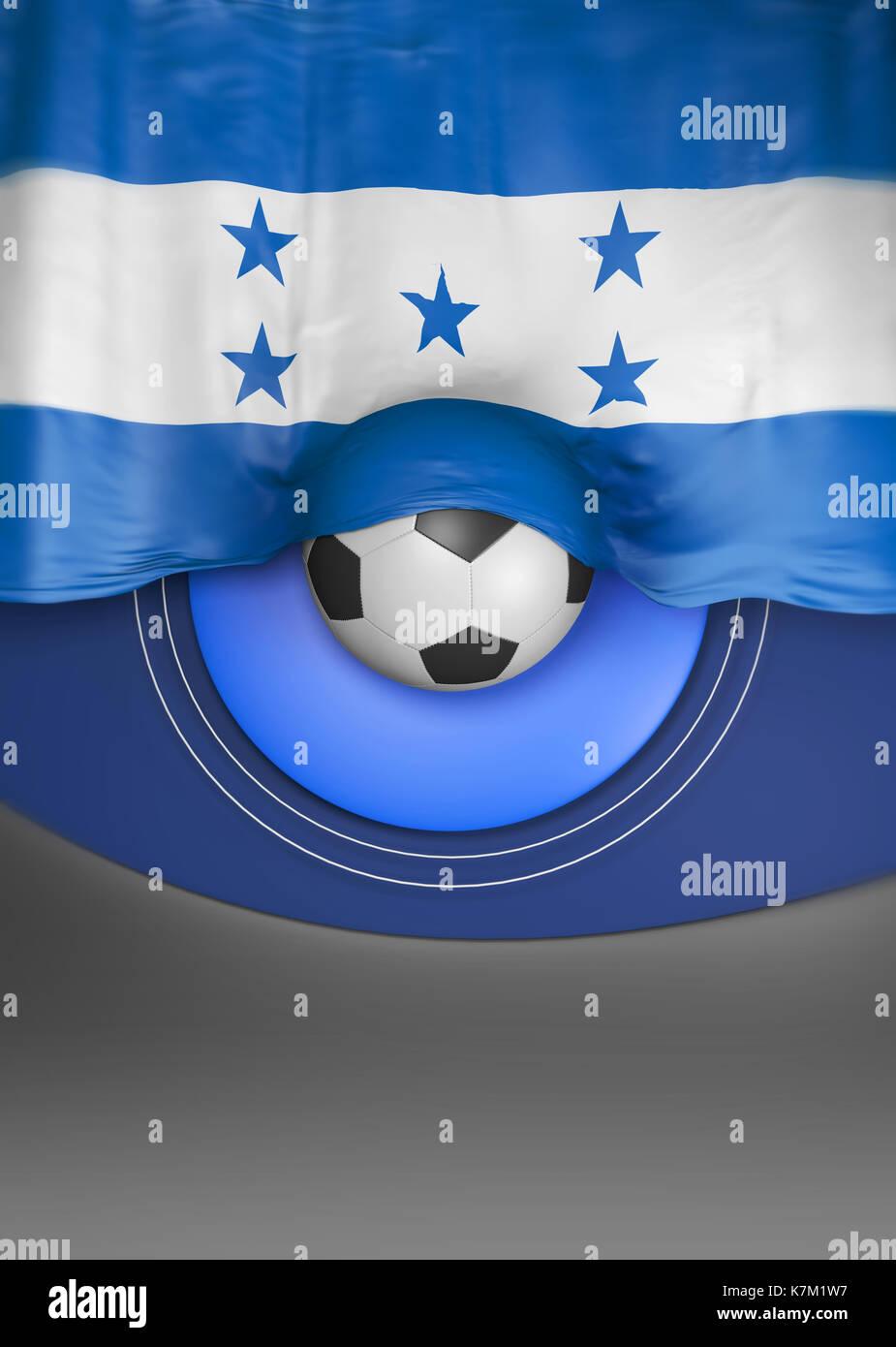 Flag Honduras render, Honduran Flag (3D Render) Stock Photo