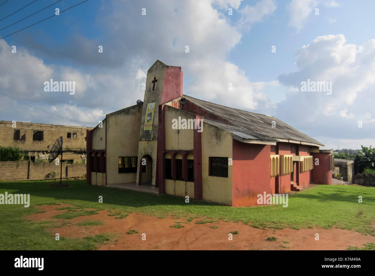 Christian church in Akure, Nigeria - Stock Image