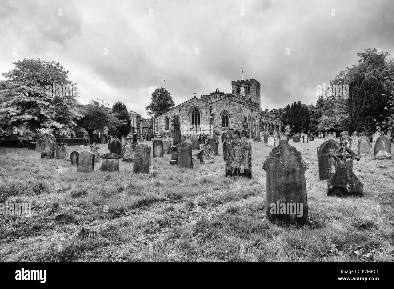 St Lawrence's Church, Boroughgate, Appleby, Cumbria, North West England - Stock Image