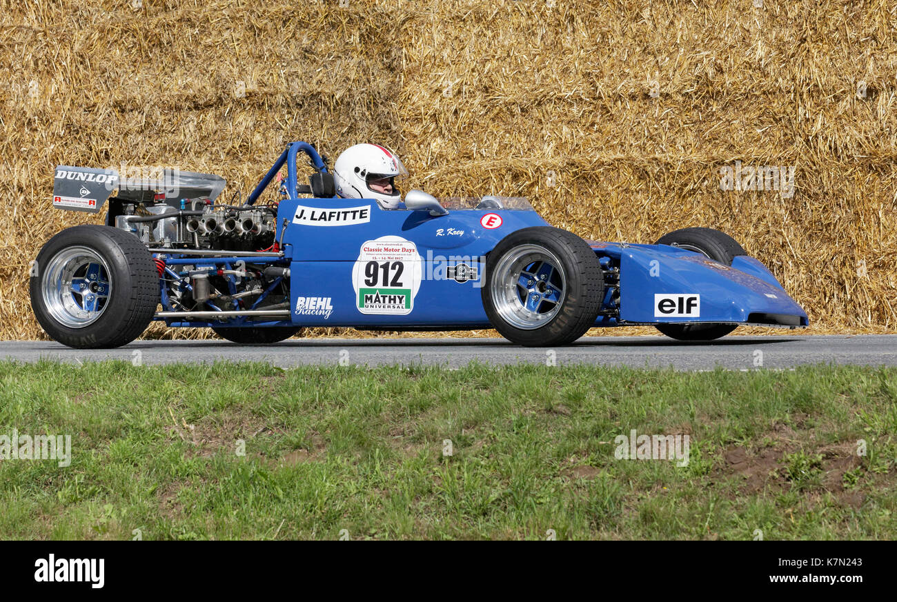 Martini MK 12 Formula 3 on the circuit, racing cars from 1973, Classic Days Schloss Dyck, Jüchen, North Rhine-Westphalia - Stock Image