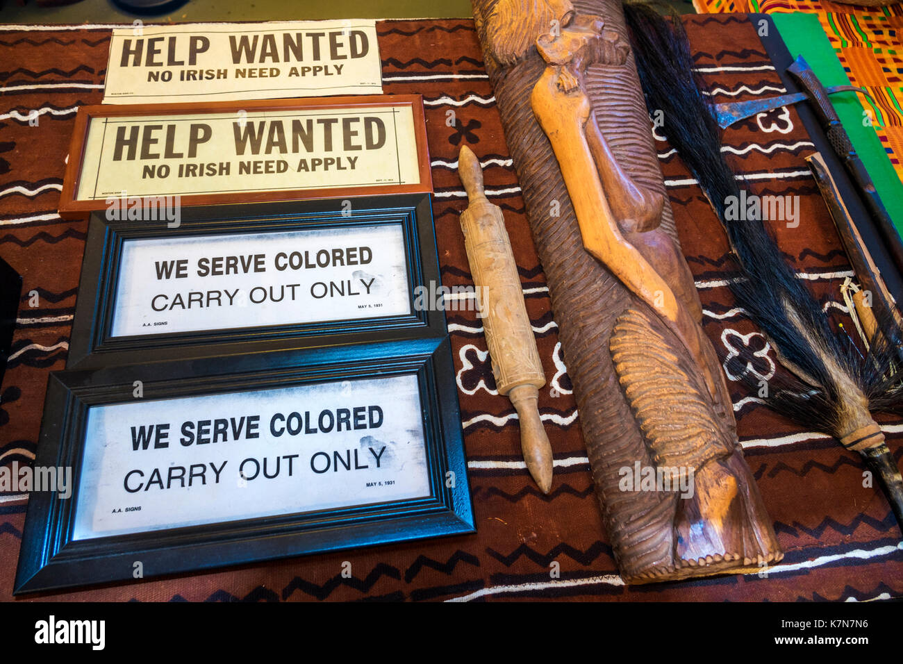 South Carolina Georgetown Gullah Museum Low Country heritage discrimination segregation colored - Stock Image