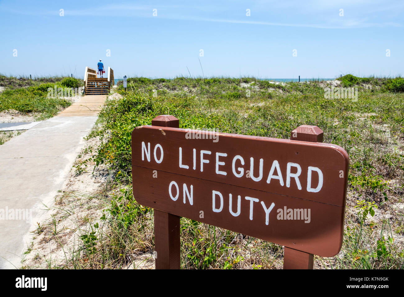 c6039f12480 Myrtle Beach South Carolina SC Atlantic Ocean Myrtle Beach State Park sand  path sign warning no