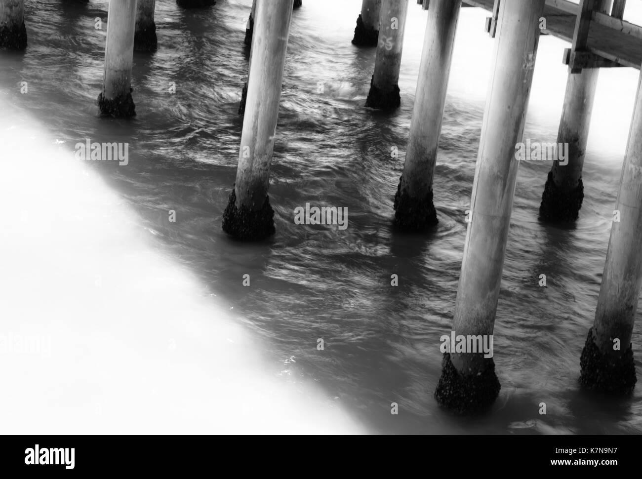 Pier Poles - Stock Image