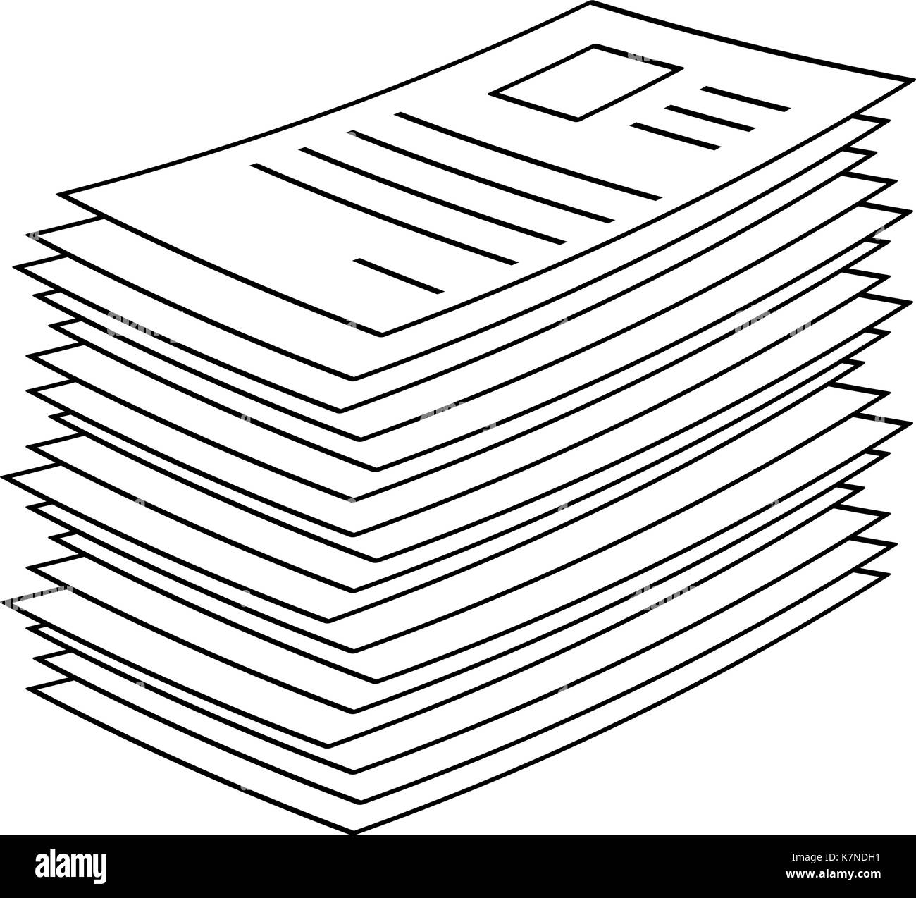 heap, stack of paper document file web icon vector symbol icon stock