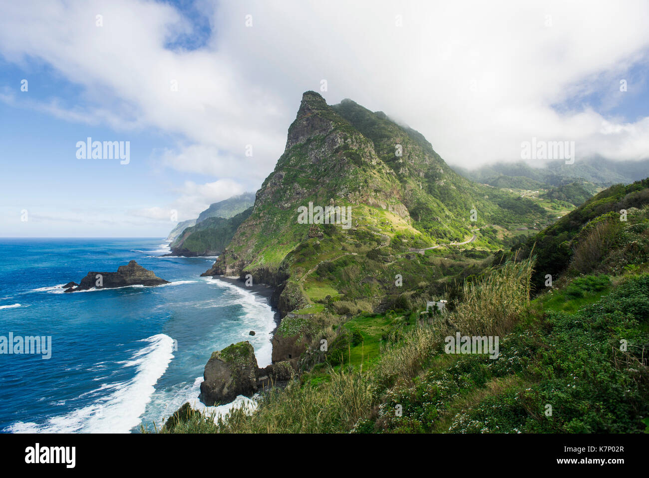 Viewpoint of Boaventura on the north coast of Madeira Island, Portugal - Stock Image
