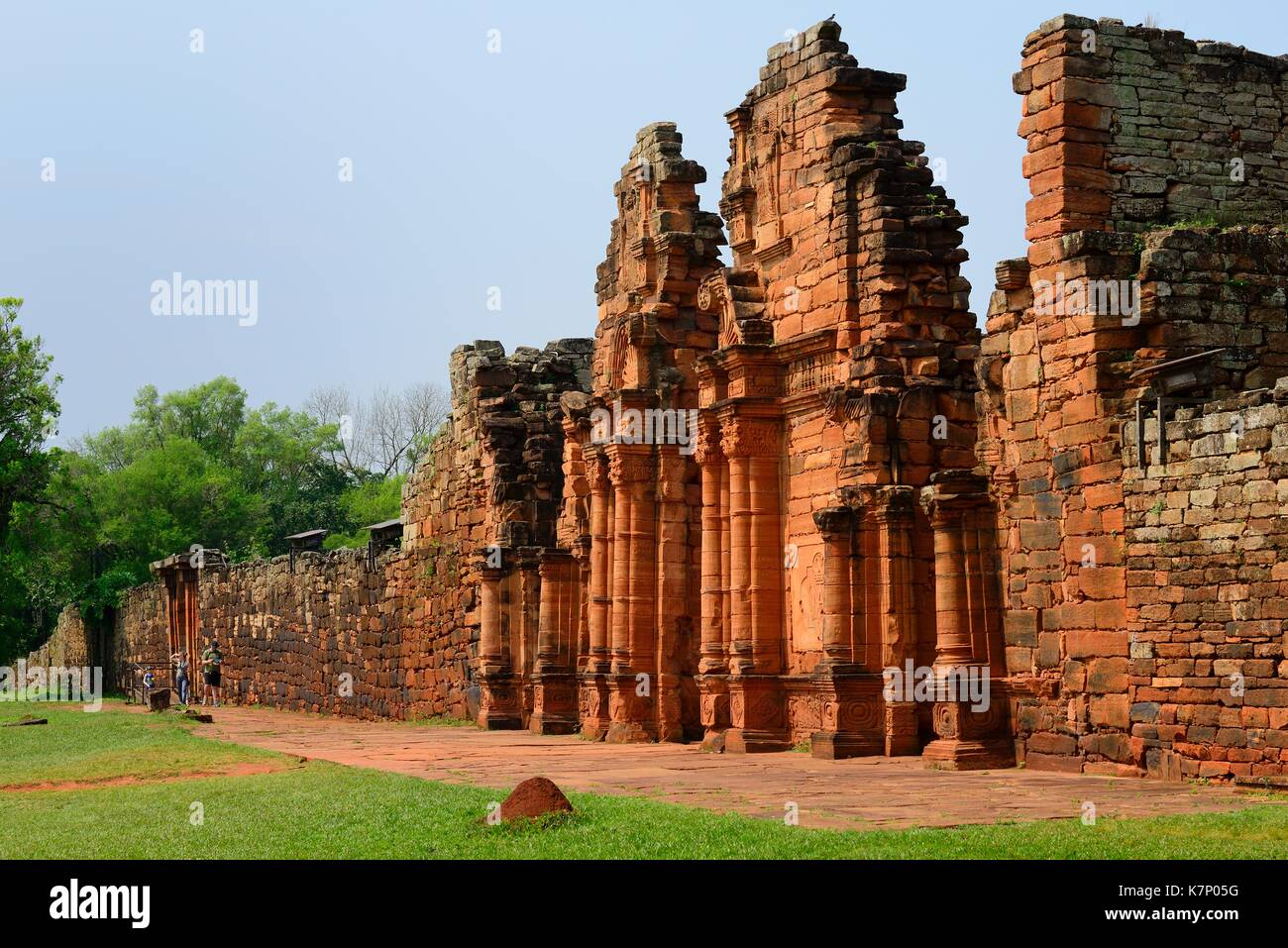 Ruins of the Jesuit Reduction San Ignacio Minì, UNESCO World Heritage Site, San Ignacio, Misiones, Argentina - Stock Image