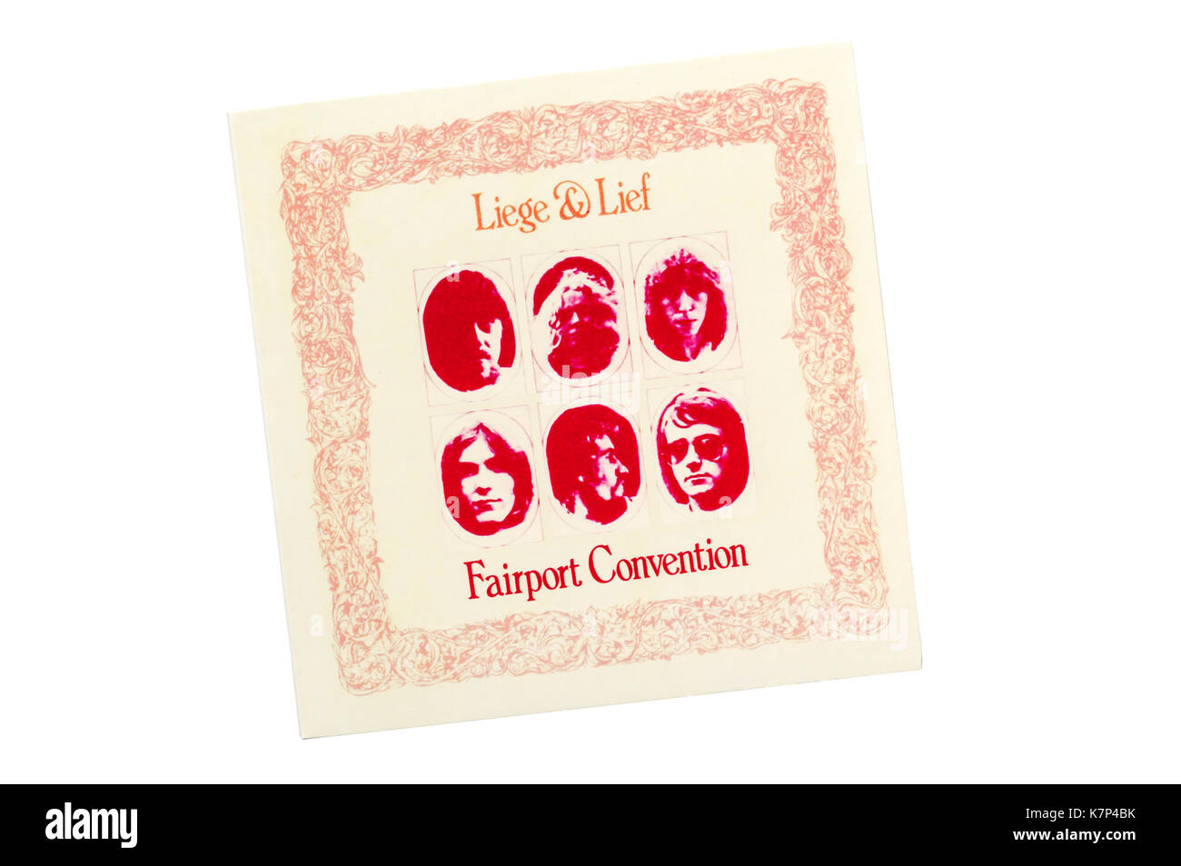 Liege & Lief was the fourth album by the English folk rock band Fairport Convention. Released in the UK in 1969. - Stock Image