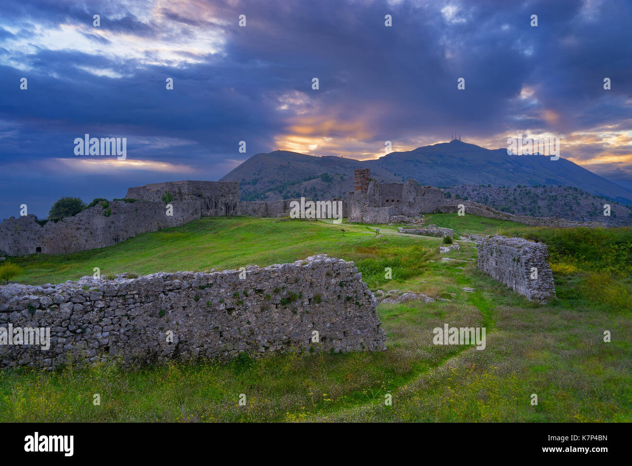 Albania is a mountainous country in the Balkans - Stock Image