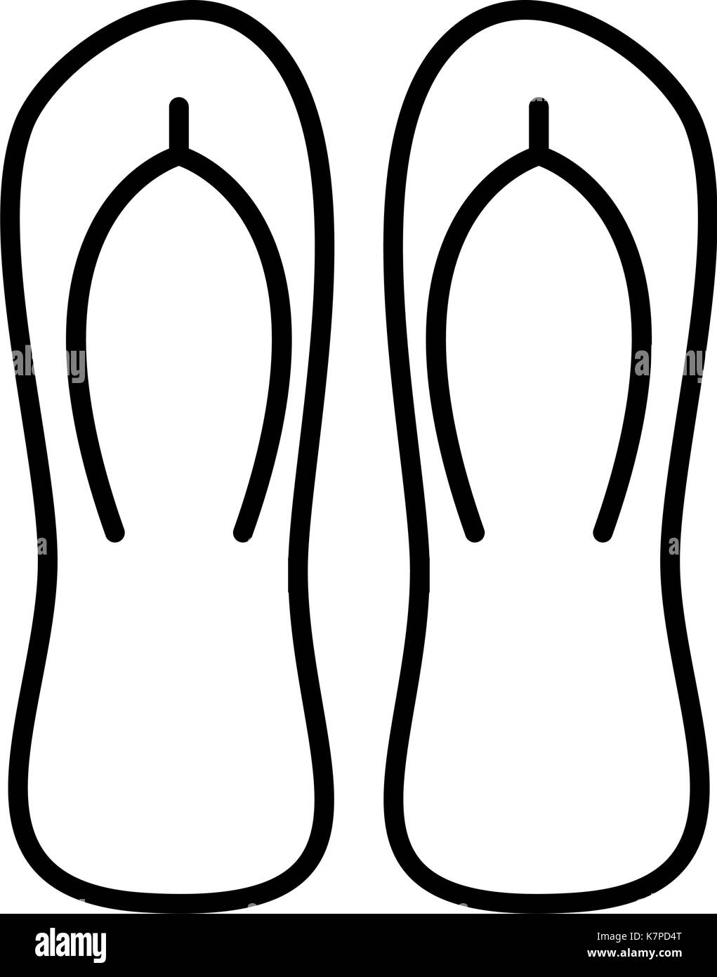 cbc3b8e21d9cf1 Flip Flop Slippers Black and White Stock Photos   Images - Alamy