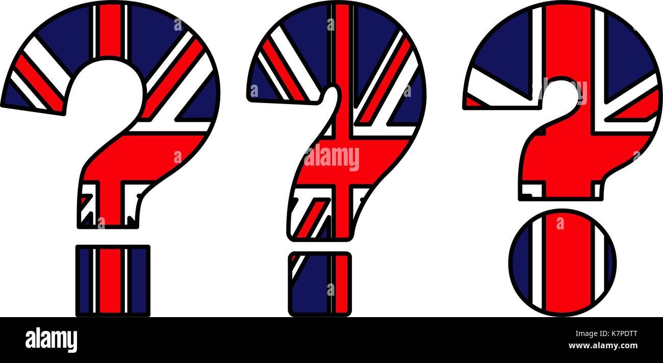 Brexit Question Mark Uk Flag Vector Symbol Icon Design Beautiful