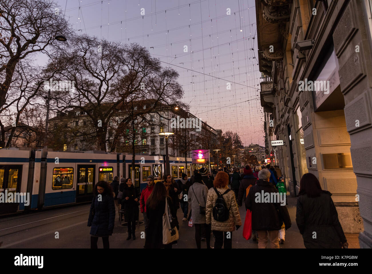 Zurich, Switzerland - 10 december 2016: Zurich Christmas Market - Stock Image