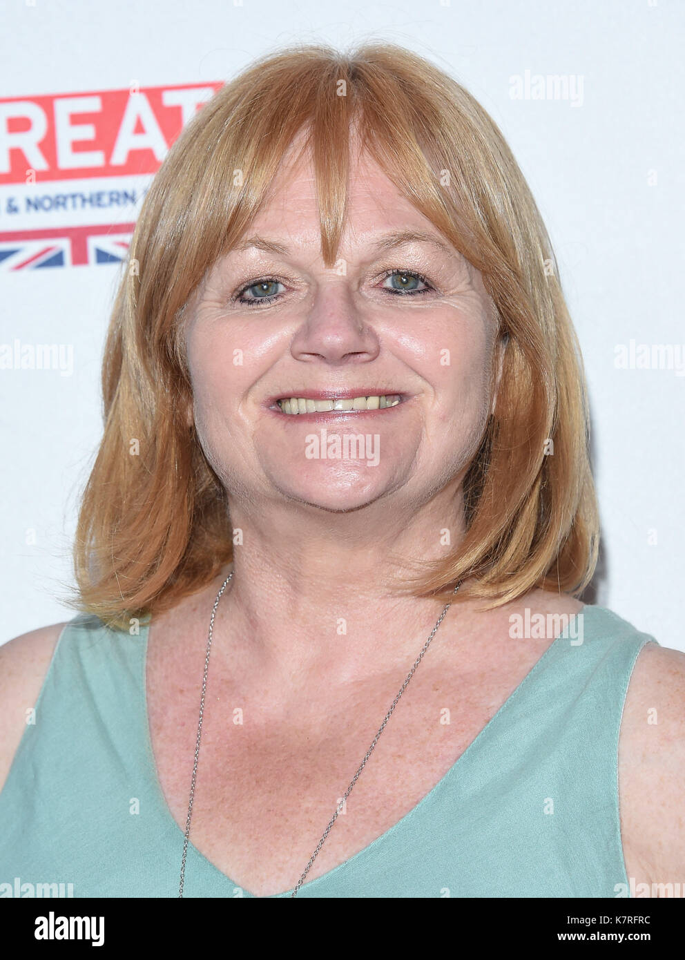 Beverly Hills, California, USA. 16th Sep, 2017. Lesley Nicol arrives for the BAFTA TV Tea Party 2017 at the Beverly Hilton Hotel. Credit: Lisa O'Connor/ZUMA Wire/Alamy Live News - Stock Image