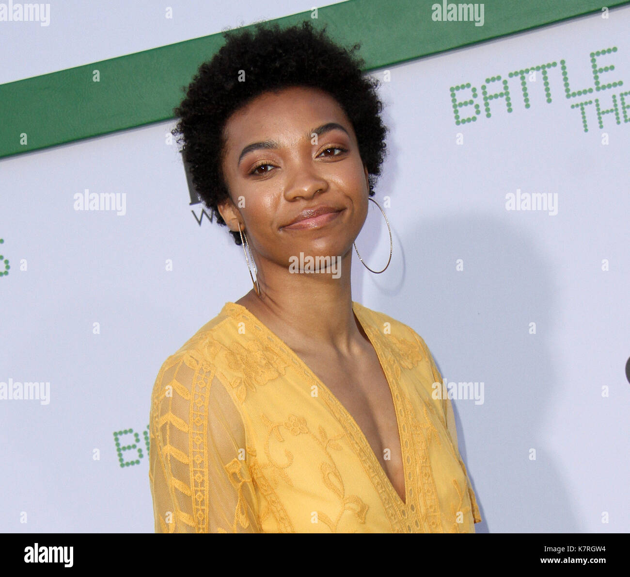 "Los Angeles, CA, USA. 16th Sep, 2017. 16 September 2017 - Beverly Hills, California - Imani Boyette. ""Battle Of Stock Photo"