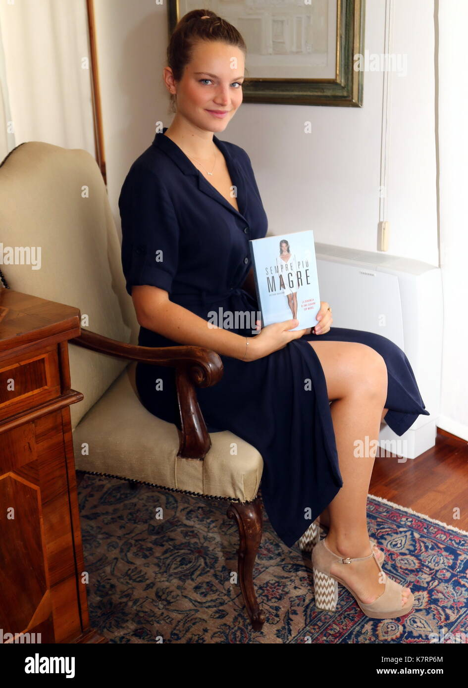 ITALY, Pordenone: French ex-model Victoire Dauxerre is seen during a literary event Pordenonelegge.it XVII BookFest with authors from 13 to 17 September at Pordenone on 17th September, 2017. - Stock Image