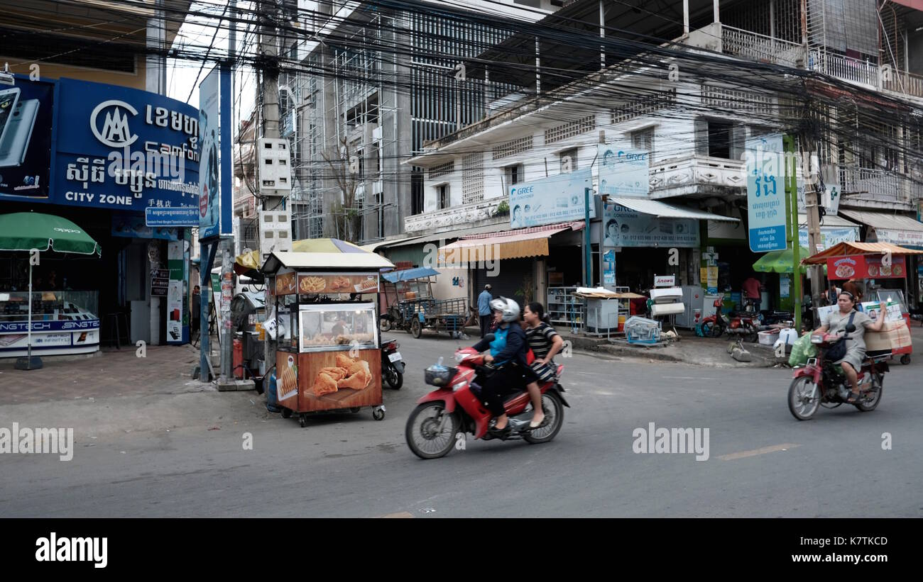 Outside Of Russian Market Toul Tom Poung Phnom Penh Cambodia South East Asia - Stock Image