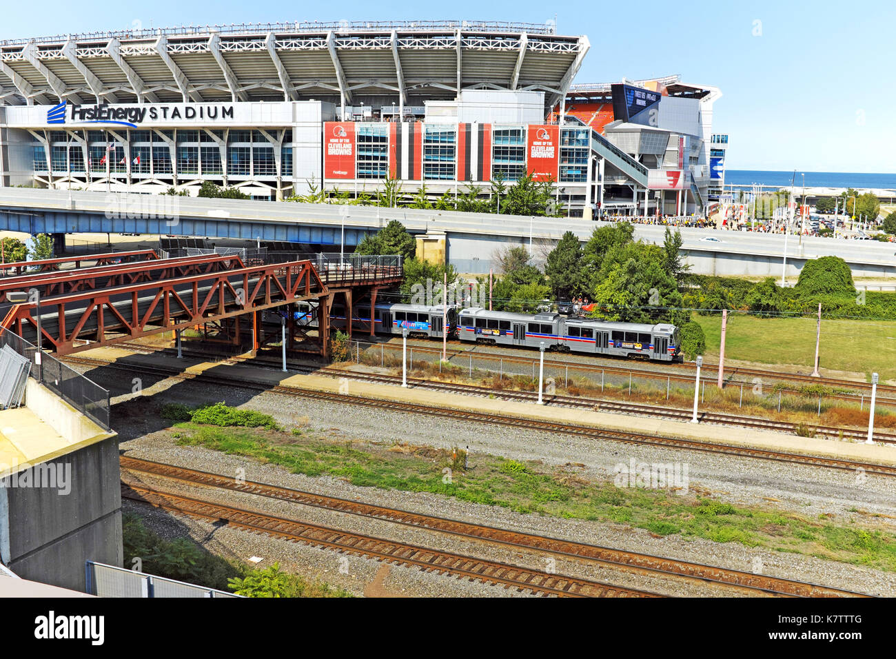 FirstEnergy Stadium in Cleveland, Ohio is home to the professional football team, the Cleveland Browns. - Stock Image